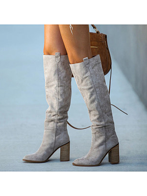 European and American high-heeled thick heel over-the-knee women's boots, 11173115