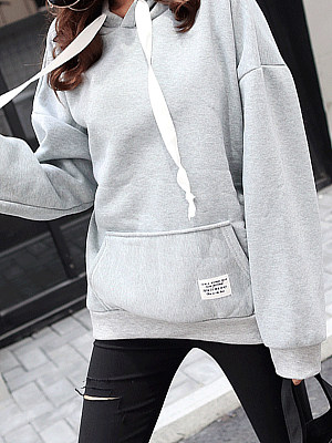 Women's velvet padded hooded gender:female, season:autumn,winter,spring, texture:cotton blend, sleeve_length:long sleeve, style:japan and south korea, collar_type:hat collar, dress_occasion:daily, bust:108,clothing length:65,shoulder width:74,