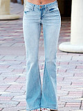Women's casual solid color slim jeans - $30.95
