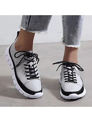 Women's Casual Colorblock Lace Up Sneakers, 10673093