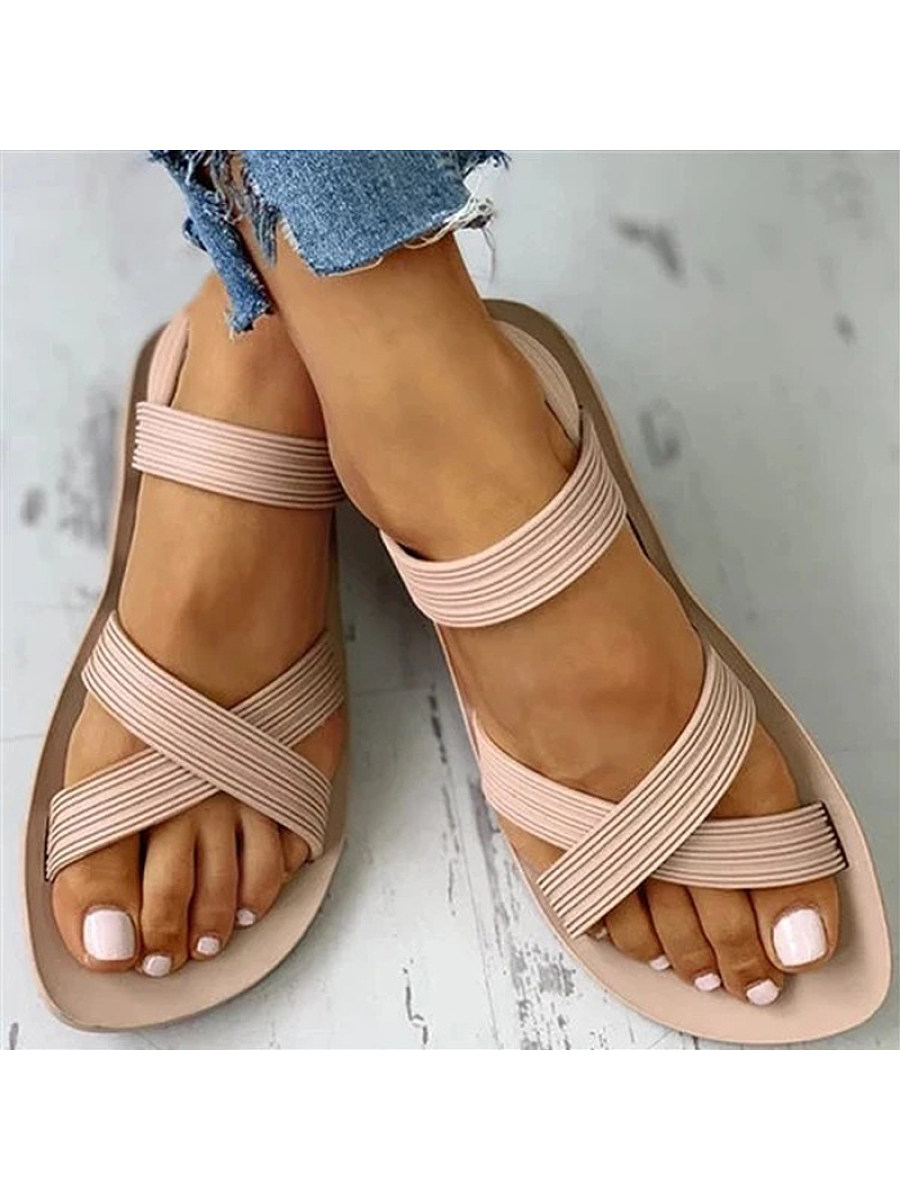 Flat cross roman women's sandals