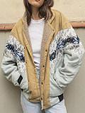Image of Printed Patchwork Cardigan Jacket