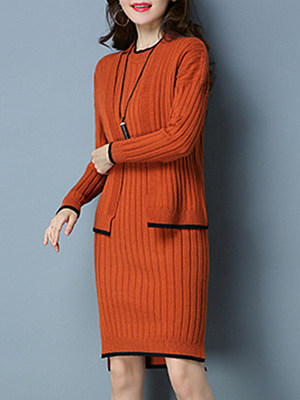 BERRYLOOK / Fashion solid color long Two-piece  Bodycon dress