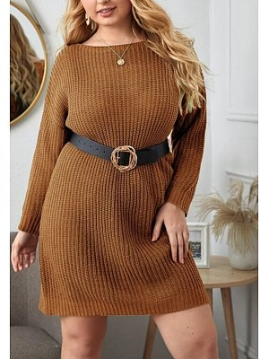 Casual Long Sleeve Pure Colour sweater