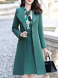 Elegant A Lapel Slim fit Cotton Coat