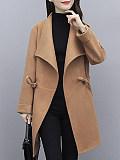 Image of Woolen Waist Mid-Length Coat