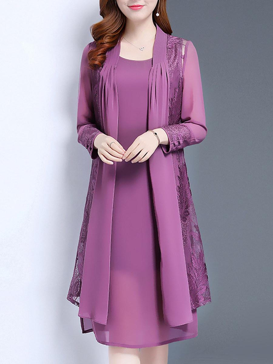 Women's Elegant Mid-length Two-piece Dress