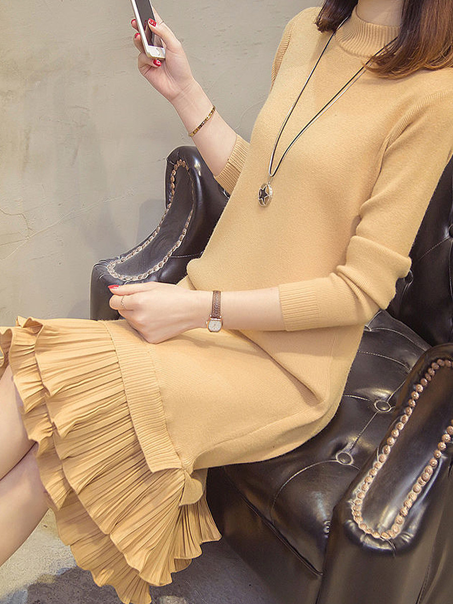 Women's round neck bottom knit dress - from $23.95