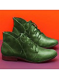 Women's Round Toe Casual Leather Boots