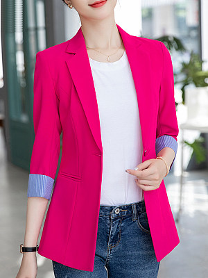 Temperament Cropped Collar Blazer фото