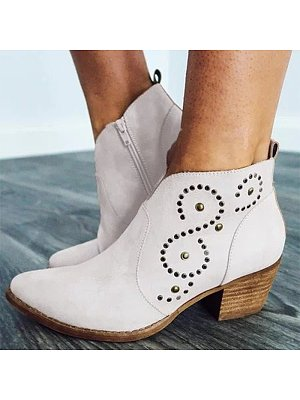 Fashion ladies pointed rivet high-heel ankle boots, 11001312