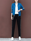 Image of Casual sportswear cover loose large size sweater three-piece suit