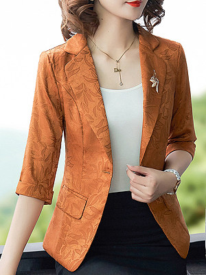 Temperament Slim-Fold Collar Blazer фото