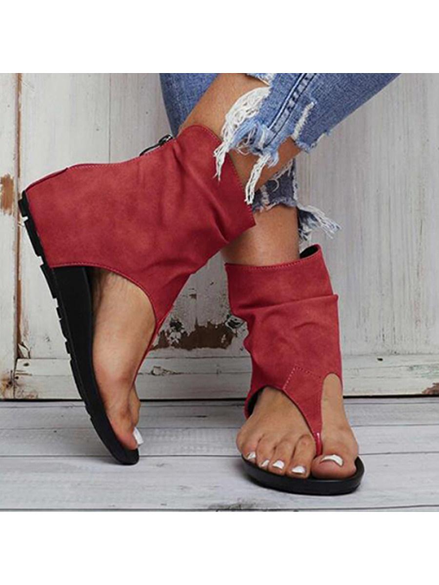 BerryLook Women's fashion flat toe sandals