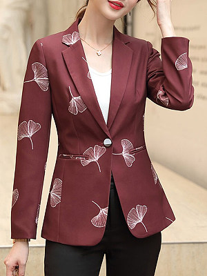 Slim-fit printed suit Blazer фото