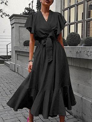 Berrylook High-waist lace-up dress clothing stores, shoppers stop, graduation dress, floral dresses