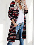 Image of Casual Printed Knitted Jacket