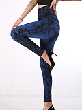 Image of Fashionable multicolor stretch printed leggings