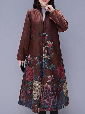 Long print coat, 10711706