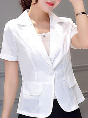 BERRYLOOK Slim short sleeve Blazer