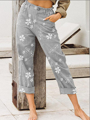 Women Floral Casual Pants фото