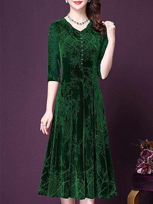 Berrylook V-neck Gold Velvet Maxi Dress shoping, stores and shops, sweater dress, floral dresses