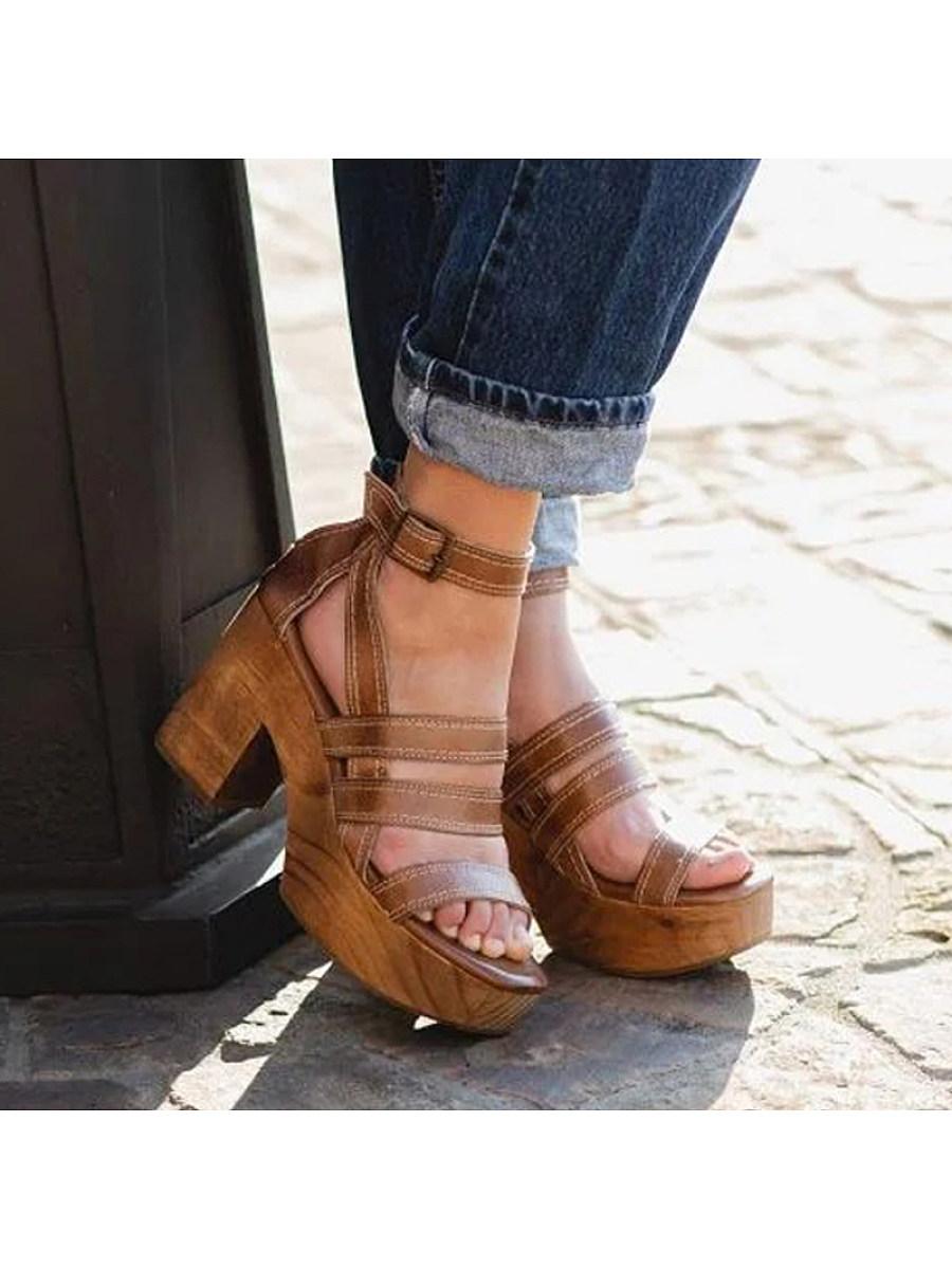 BerryLook Women's fashion high-heeled platform open-toe sandals