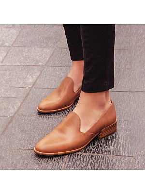 Plain Fashion Flat Comfort Flats, 11174428