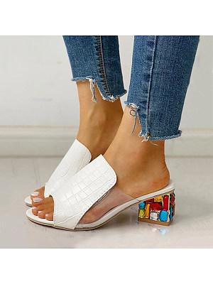 Fish mouth rhinestone European and American fashion thick heel sandals, 11303534