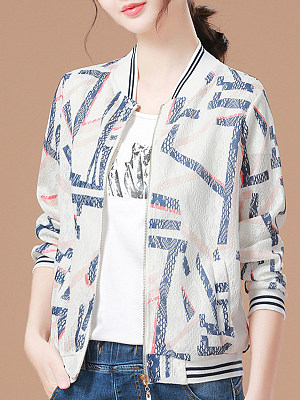 Fashion Print Loose Jacket фото