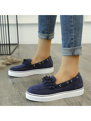 Women's fashion shallow mouth flower casual sports shoes, 10647061