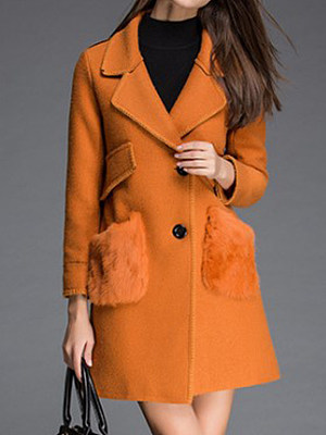 Women's Fashion Lapel Woolen Coat gender:female, season:autumn,winter,spring, collar:lapel collar, texture:cotton, sleeve_length:long sleeve, sleeve_type:regular sleeve, style:japan and south korea, design:single-breasted, dress_occasion:daily, bust:104,clothing length:85,shoulder width:41,