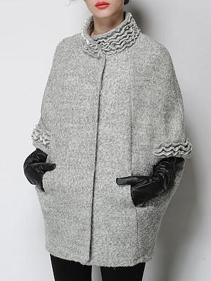 Women's Fashion Bat Cloak Coat фото