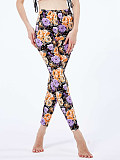 Image of Fashion stretch flower print casual leggings