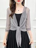 Short shawl thin cardigan ice silk sun protection clothing