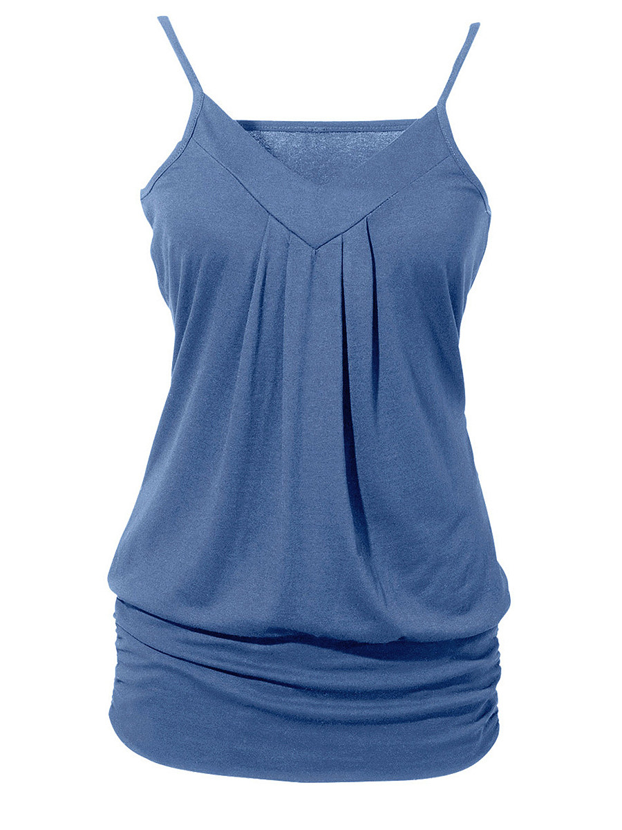 Plain Sleeveless T-shirt