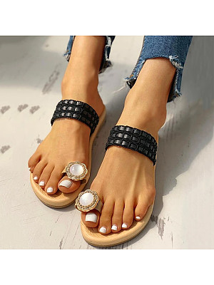Ethnic style flat sandals, 11320700