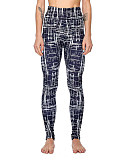 Image of Fashion irregular print stretch slim-fit leggings