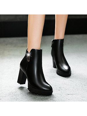BERRYLOOK Women's Fashion Heel Boots
