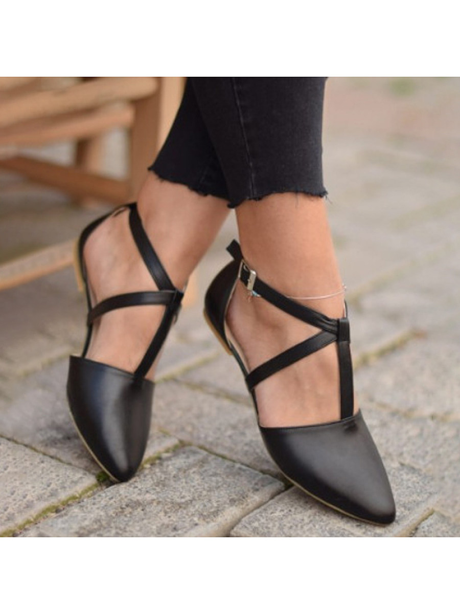 Women's fashion pointed flat shoes