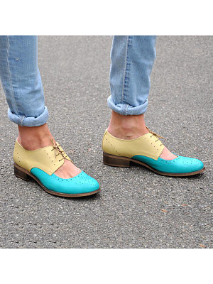 Fashion Color Matching Hollow Out Women's Flats, 11018064