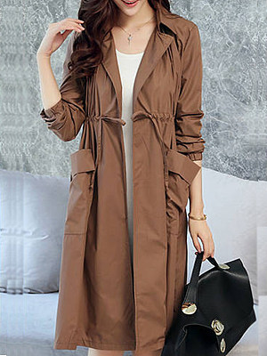 Loose-fit loose trench coat фото