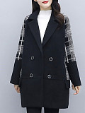 Image of Autumn And Winter Plaid Coat Women Mid-Length