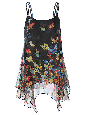 Butterfly Sleeveless Blouse фото