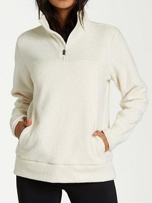 Women's Casual Solid Color Zip Long Sleeve Sweatshirt