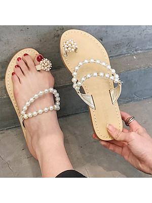 Fashion pearl flat sandals