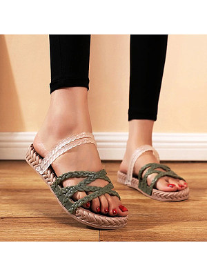 Casual indoor and outdoor fashion non-slip flat sandals