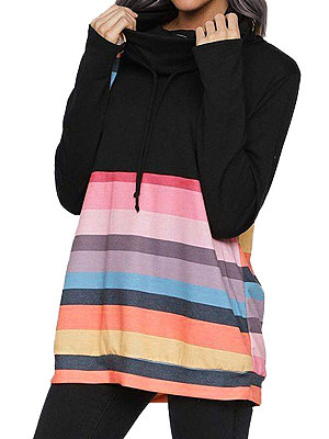 Colorblock stand collar sweater фото