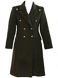 Image of Woolen Coat Long Over The Knee Coat