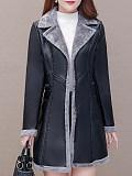 Image of Large Size Plus Velvet Thick PU Fur Coat